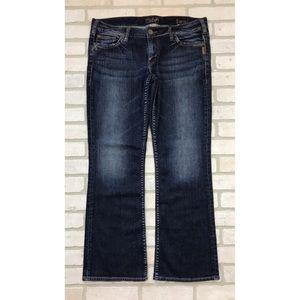 Silver Tony Boot Cut Jeans Dark Wash 34